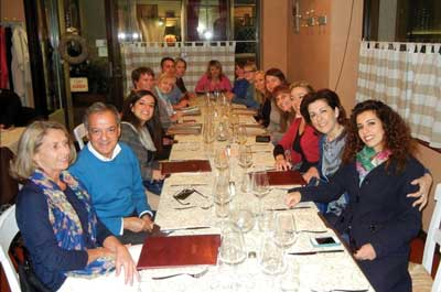 Alliance Members at a dinner meeting in Italy